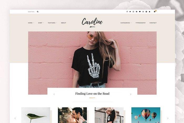 Caroline - A WordPress Blog Theme