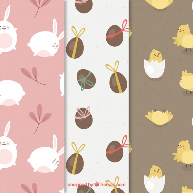 220 Best Easter Graphics in 2020: Free & Premium - collection nice easter patterns flat design 23 2147757930