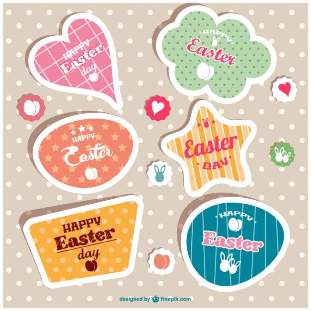 220 Best Easter Graphics in 2020: Free & Premium - colorful easter labels 23 2147489265