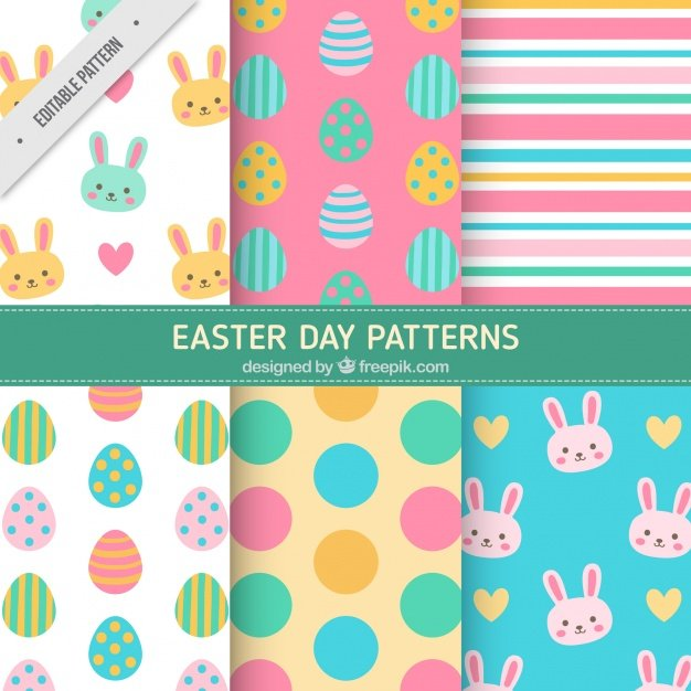 220 Best Easter Graphics in 2020: Free & Premium - colorful easter patterns flat design 23 2147603652