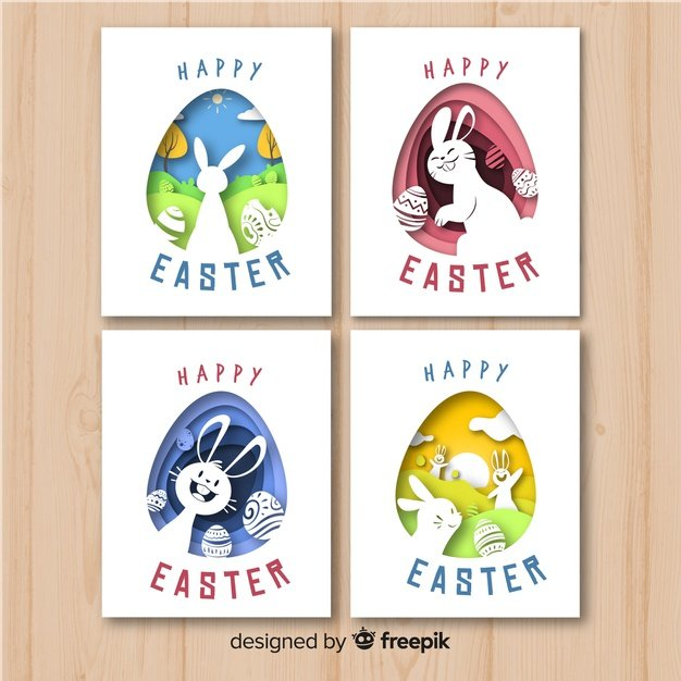 220 Best Easter Graphics in 2020: Free & Premium - cut out easter card pack 23 2148067949