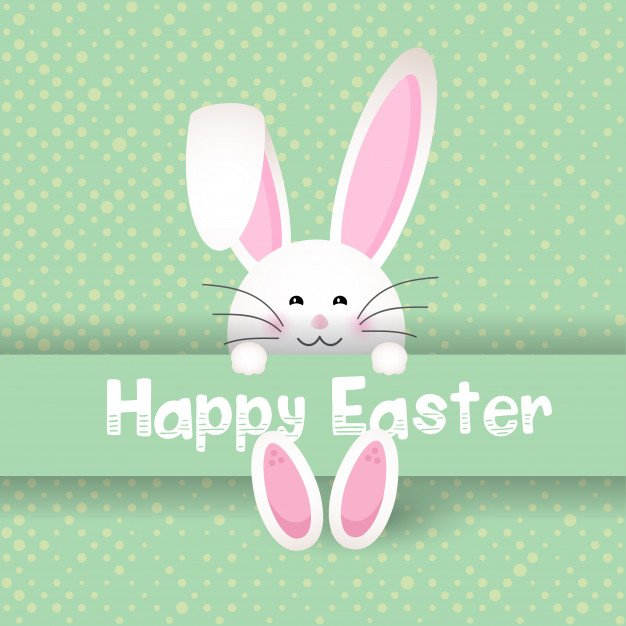 220 Best Easter Graphics in 2020: Free & Premium - cute easter bunny polka dot background 1048 7463