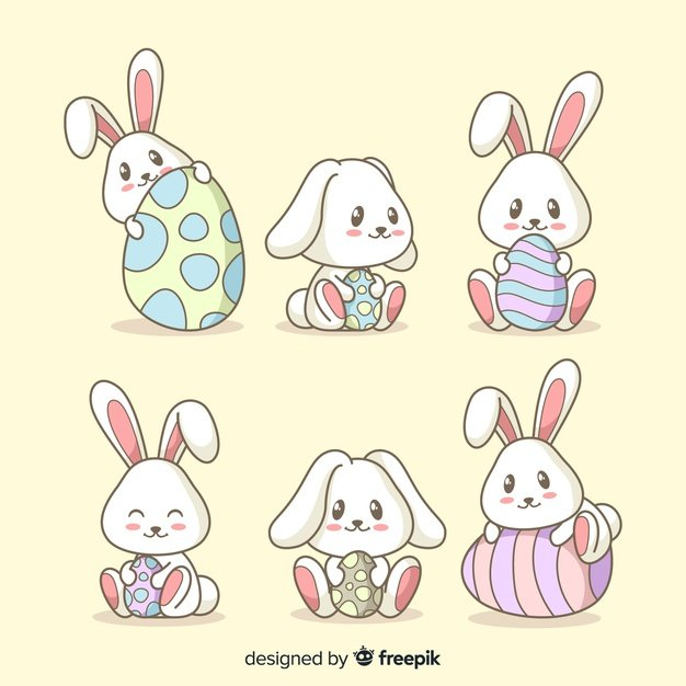 220 Best Easter Graphics in 2020: Free & Premium - easter bunny collection 23 2148077085