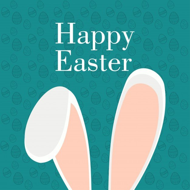 220 Best Easter Graphics in 2020: Free & Premium - easter card with rabbit ears 1057 4187