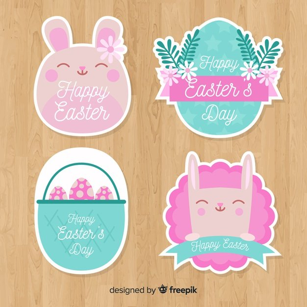 220 Best Easter Graphics in 2020: Free & Premium - easter day badge collection 23 2148068798
