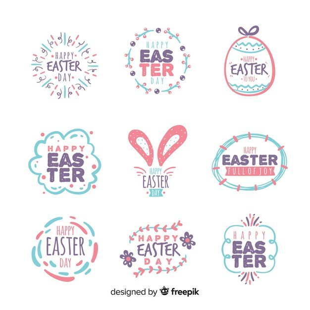 220 Best Easter Graphics in 2020: Free & Premium - easter day badge collection 23 2148068864