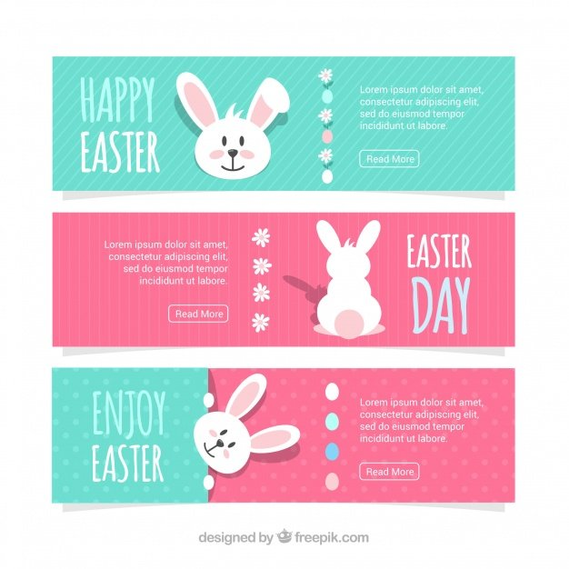 220 Best Easter Graphics in 2020: Free & Premium - easter day banners 23 2147757257