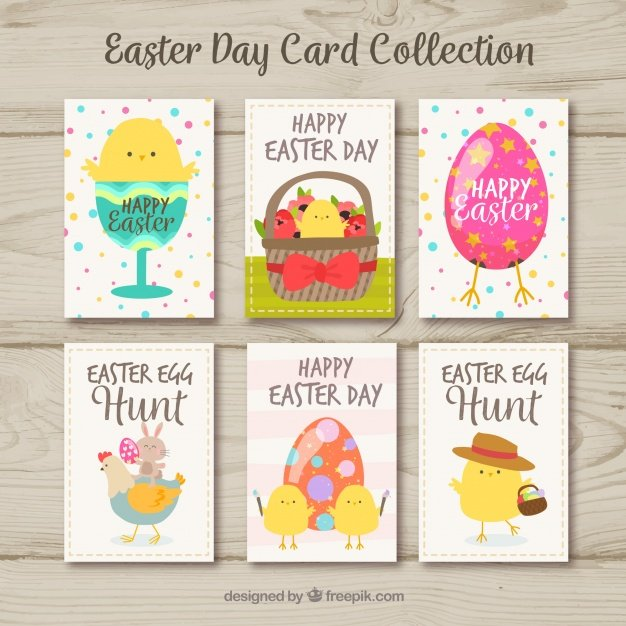 220 Best Easter Graphics in 2020: Free & Premium - easter day cards collection with cute birds 23 2147758984