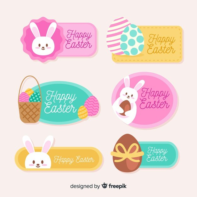 220 Best Easter Graphics in 2020: Free & Premium - easter label collection 23 2148068089