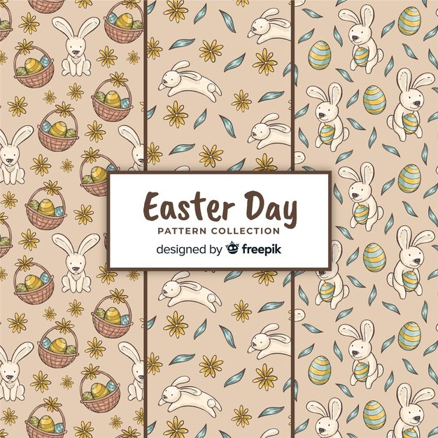 220 Best Easter Graphics in 2020: Free & Premium - easter pattern collection 23 2148069924