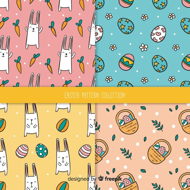 220 Best Easter Graphics in 2020: Free & Premium - easter pattern collection 23 2148073082