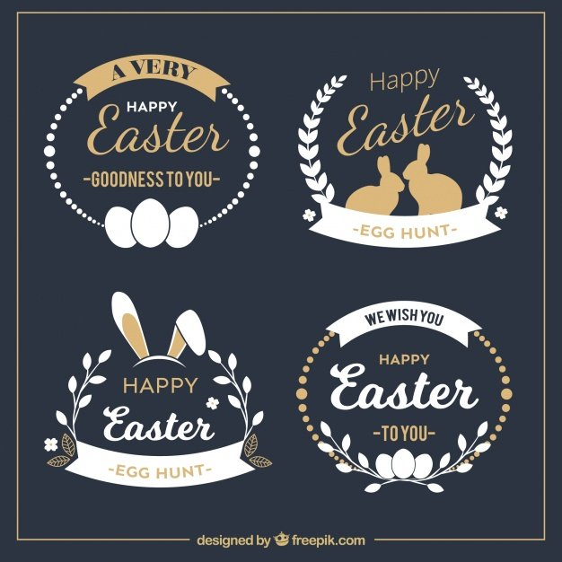 220 Best Easter Graphics in 2020: Free & Premium - elegant easter badge collection 23 2147603312