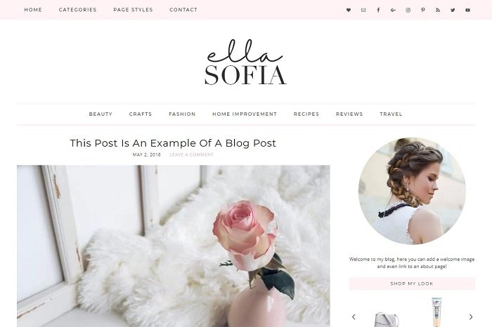 Ella Sophia WordPress Theme