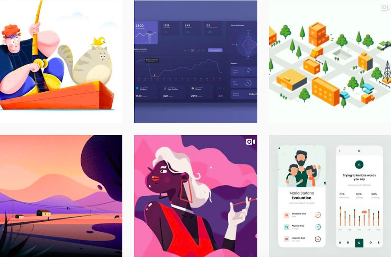 Web Design Inspiration: 110+ Accounts On Instagram and 10+ Best UX & Web Design Books in 2020 - fireart studio