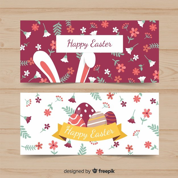 220 Best Easter Graphics in 2020: Free & Premium - flat easter banner 23 2148061670