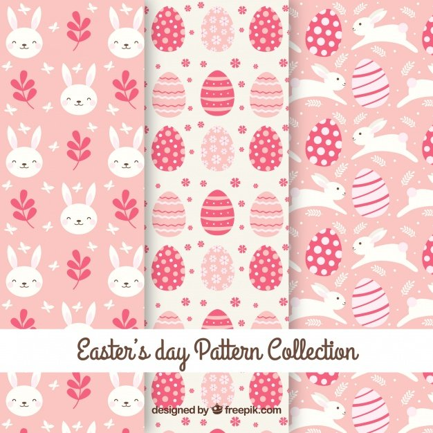 220 Best Easter Graphics in 2020: Free & Premium - flat easter day pattern collection 23 2147753041
