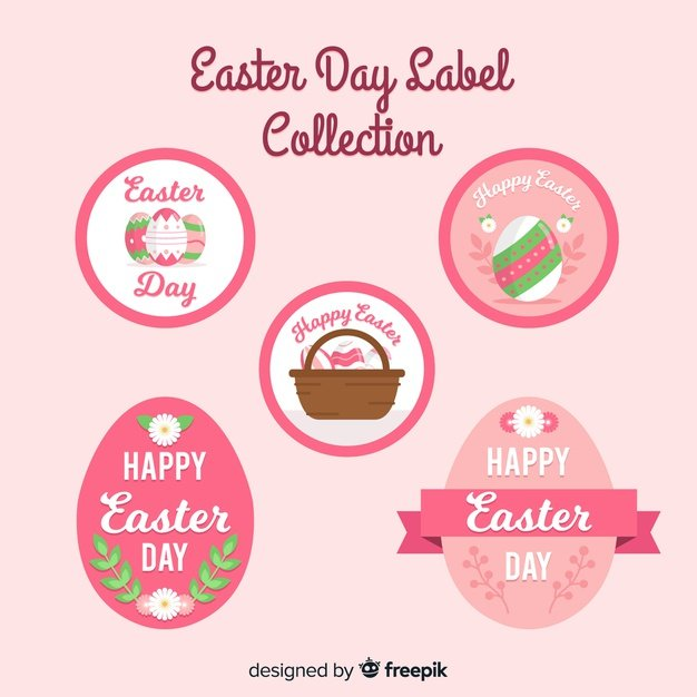 220 Best Easter Graphics in 2020: Free & Premium - flat easter label collection 23 2148064586