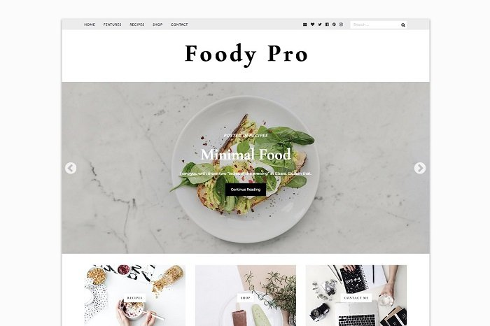 Foody Pro - WordPress Food Blogger