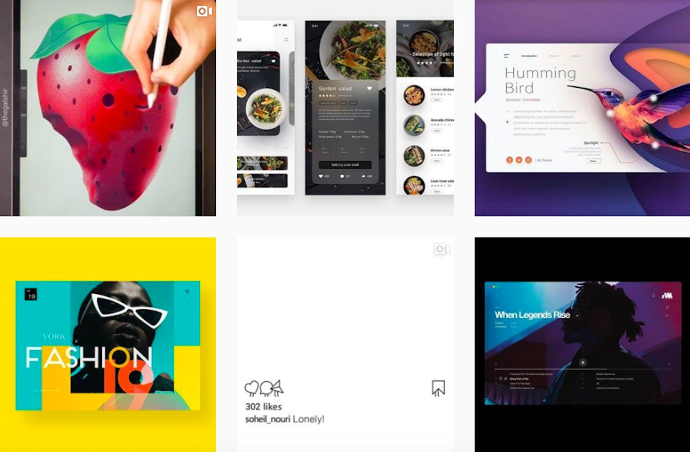 Web Design Inspiration: 110+ Accounts On Instagram and 10+ Best UX & Web Design Books in 2020 - graphicdesignui