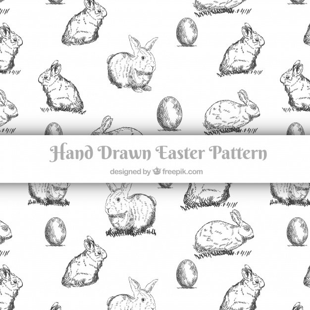 220 Best Easter Graphics in 2020: Free & Premium - hand drawn easter day pattern collection 23 2147755970