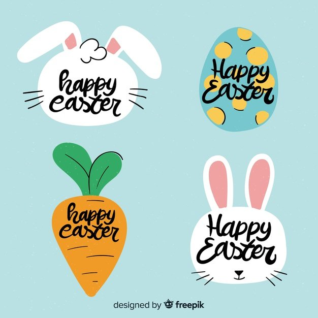 220 Best Easter Graphics in 2020: Free & Premium - hand drawn easter label collection 23 2148066537