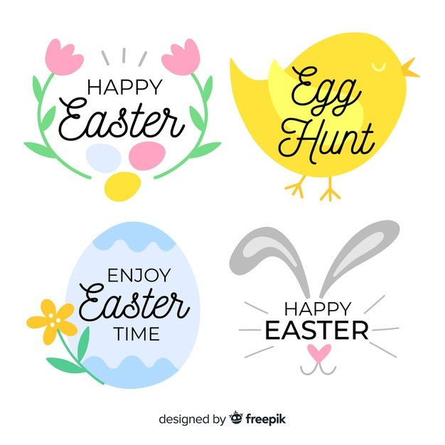 220 Best Easter Graphics in 2020: Free & Premium - hand drawn easter label collection 23 2148068296