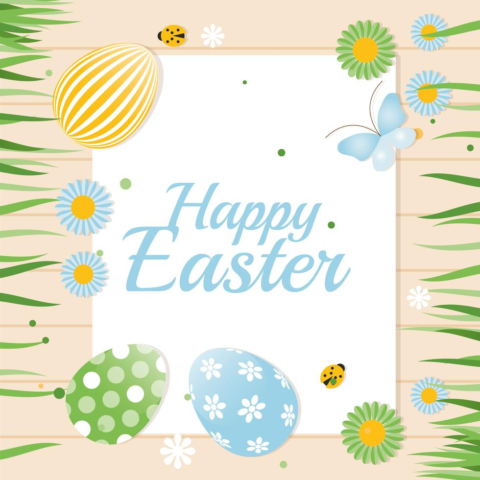 220 Best Easter Graphics in 2020: Free & Premium - happy easter background vector 1