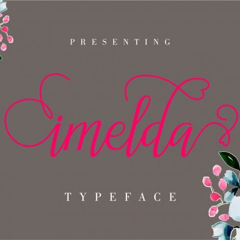 Imelda Modern Hand-based Typography - $5 - imelda 1 490x490