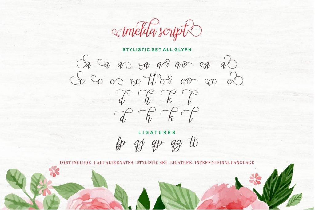 Imelda Modern Hand-based Typography - $5