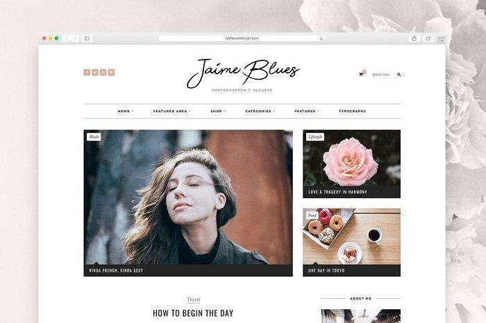 Jaime Blues - WordPress Blog & Shop