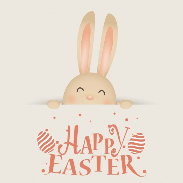 220 Best Easter Graphics in 2020: Free & Premium - laughing easter rabbit 1232 3920