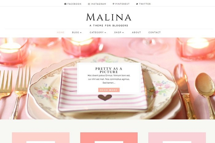 Malina - Divi Child Theme