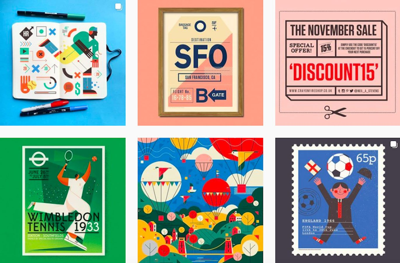 Web Design Inspiration: 110+ Accounts On Instagram and 10+ Best UX & Web Design Books in 2020 - neil a stevens