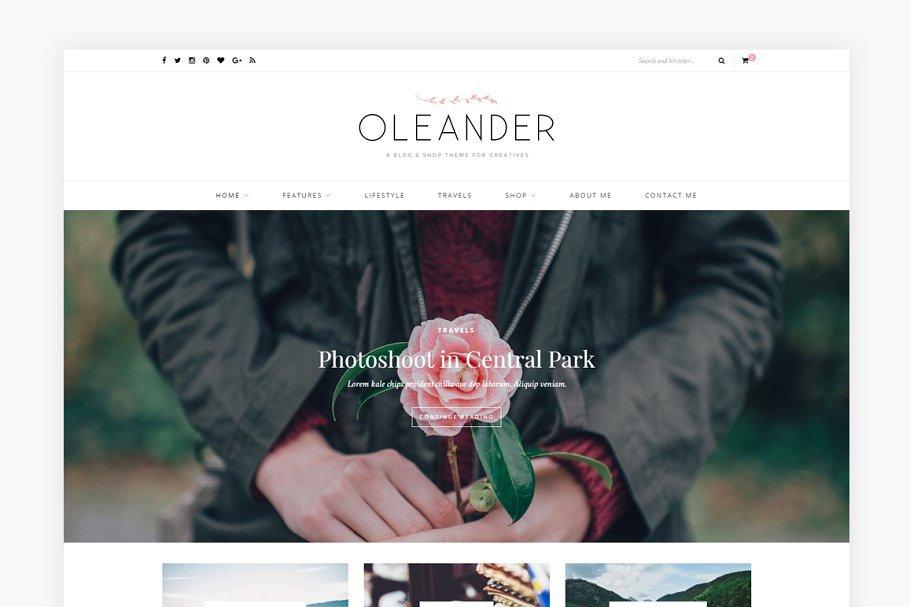 Oleander - A Blog & Shop Theme