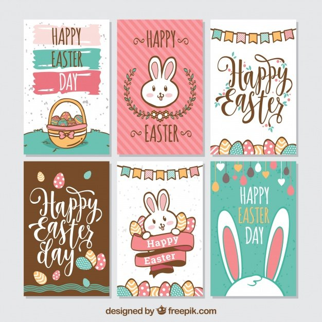 220 Best Easter Graphics in 2020: Free & Premium - pack six creative easter cards 23 2147756778