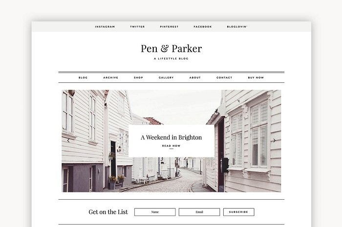 Parker - A Minimalist Theme