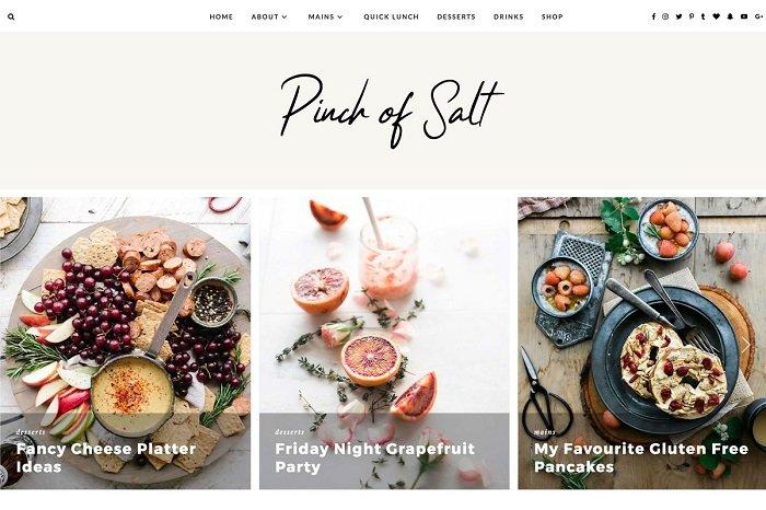 "WordPress Theme ""Pinch of Salt"""