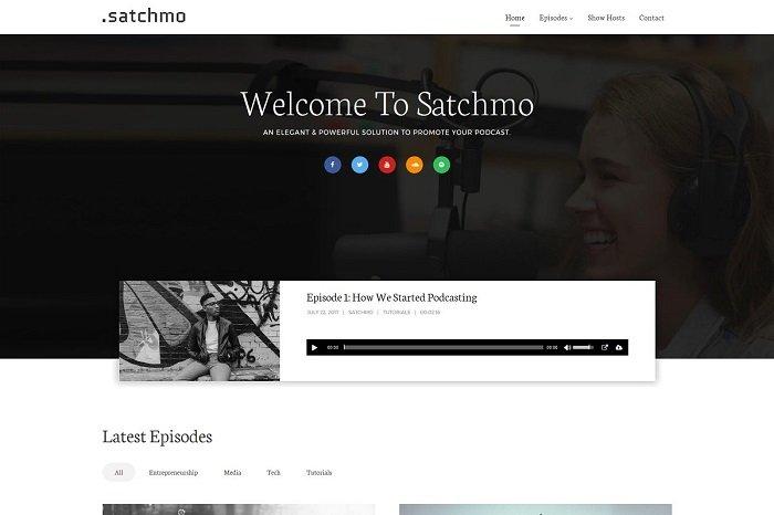 Satchmo Podcast WordPress Theme