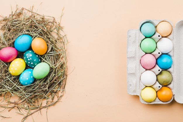 220 Best Easter Graphics in 2020: Free & Premium - set bright easter eggs nest container 23 2148038361