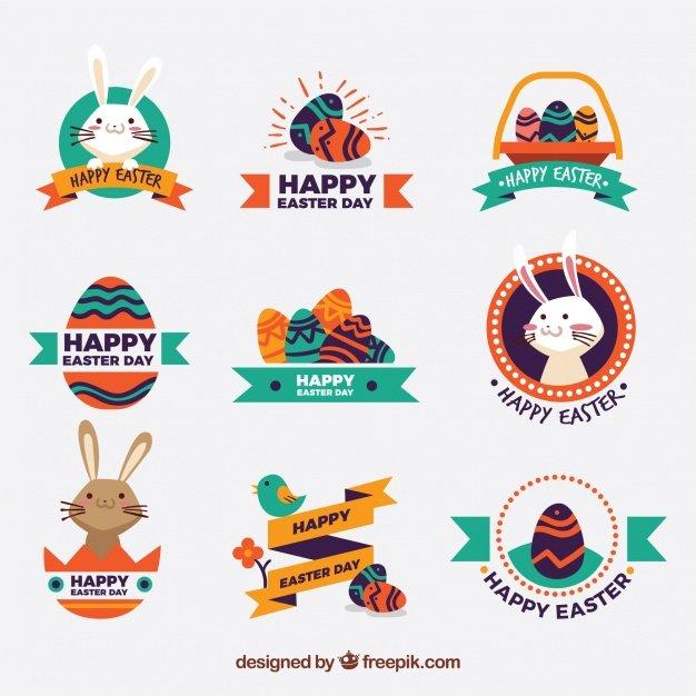 220 Best Easter Graphics in 2020: Free & Premium - set decorative easter stickers vintage design 23 2147599649
