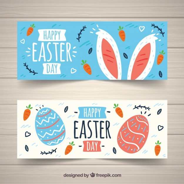 220 Best Easter Graphics in 2020: Free & Premium - set easter day banners 23 2147755333