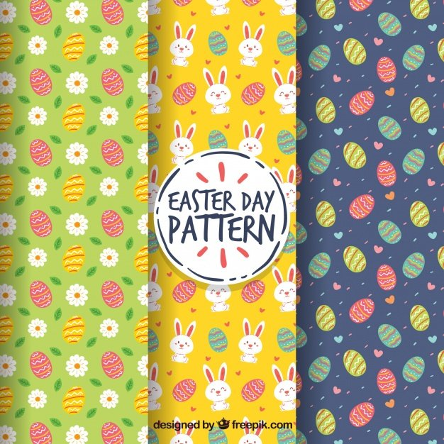 220 Best Easter Graphics in 2020: Free & Premium - set easter day patterns 23 2147755325