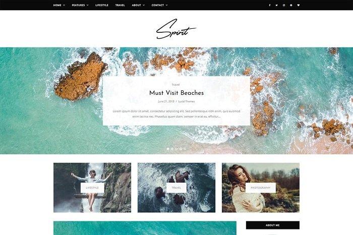 Spirit - WordPress Blog Theme