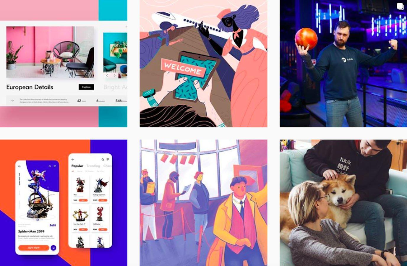 Web Design Inspiration: 110+ Accounts On Instagram and 10+ Best UX & Web Design Books in 2020 - tubikstudio