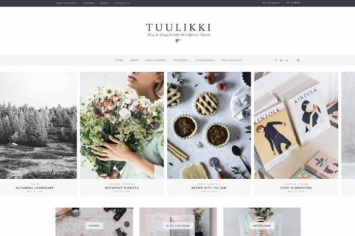 TUULIKKI Nordic Blog & Shop Theme