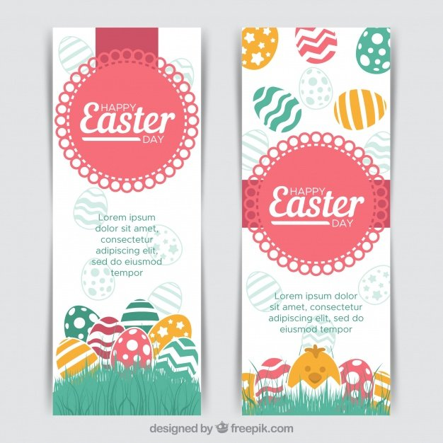 220 Best Easter Graphics in 2020: Free & Premium - two creative easter banners 23 2147772163