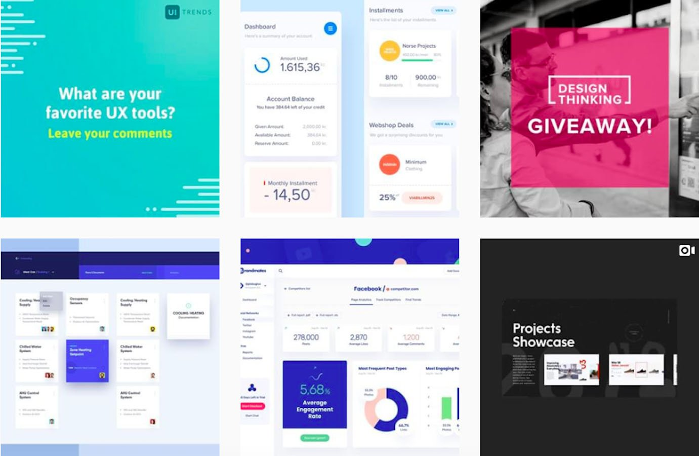 Web Design Inspiration: 110+ Accounts On Instagram and 10+ Best UX & Web Design Books in 2020 - uitrends