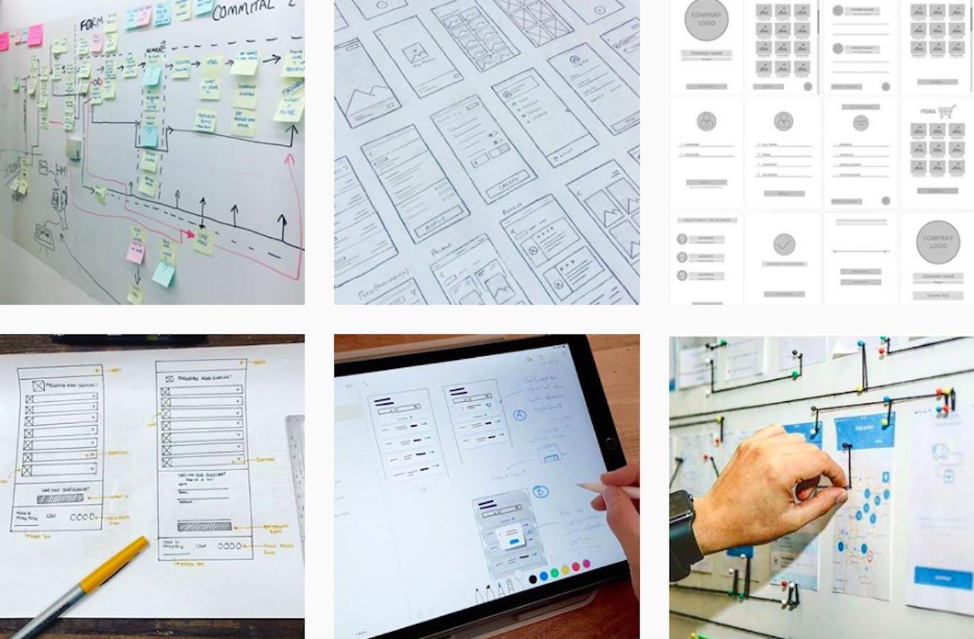 Web Design Inspiration: 110+ Accounts On Instagram and 10+ Best UX & Web Design Books in 2020 - ux ui wireframes
