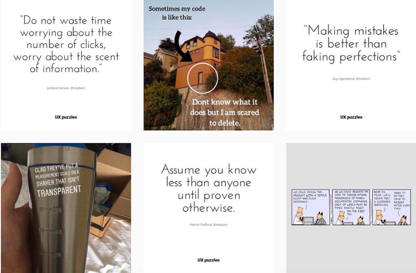 Web Design Inspiration: 110+ Accounts On Instagram and 10+ Best UX & Web Design Books in 2020 - uxpuzzles