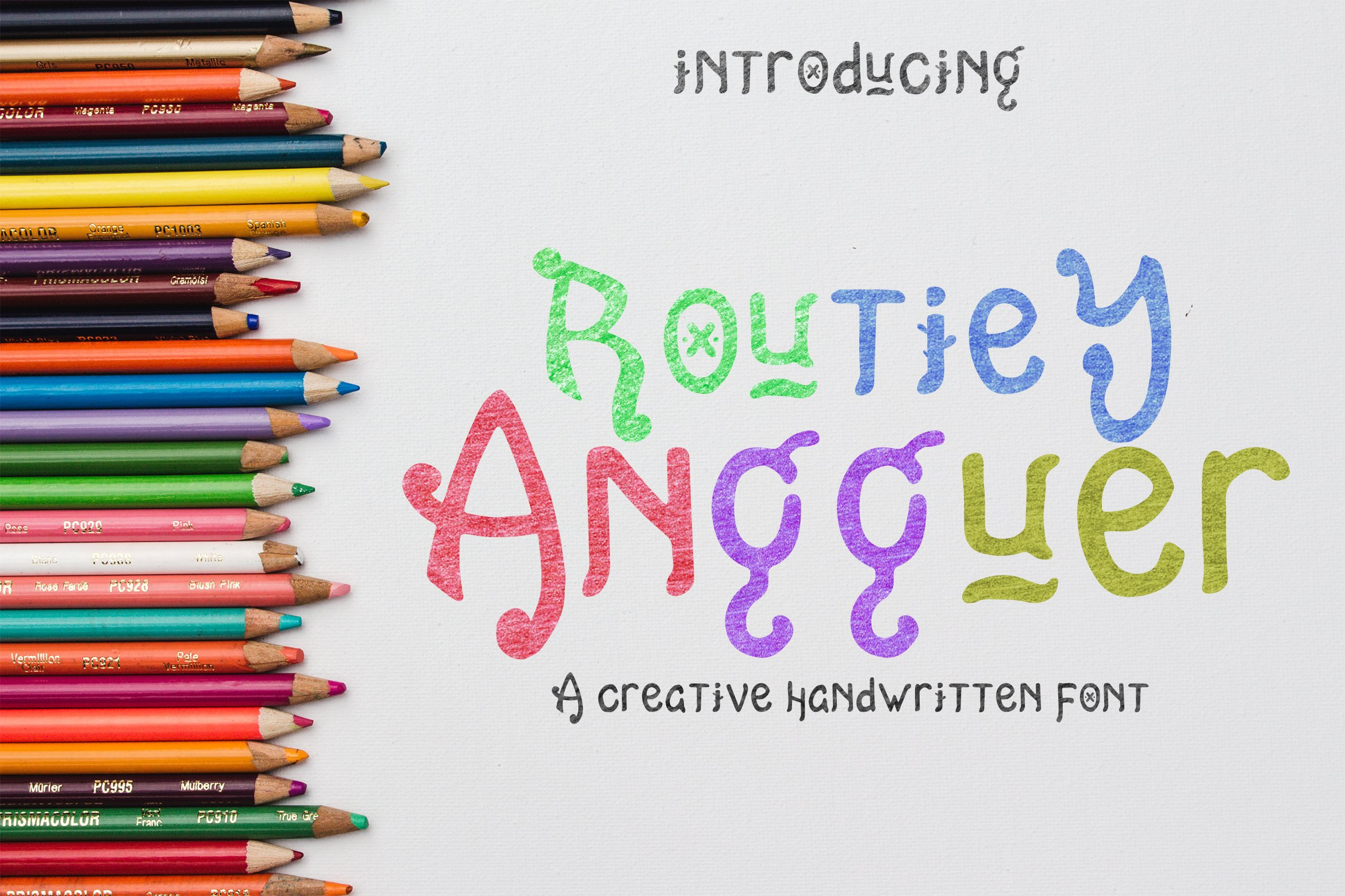 Playful Fonts - Exclusive Font Bundle - 30 Items for $15 - view routie angguer6